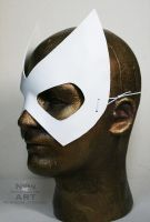 White Superhero or Super-villain Mask by nondecaf