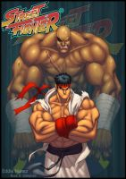 Street Fighter by Eddie Nunez by Ross-A-Campbell