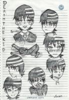 Death the kid expressions by kur0nek013