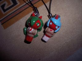 Scanty and Kneesocks Charms by CynicalSniper