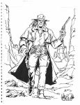 Inks only:  Saint of Killers by Gretchdragon