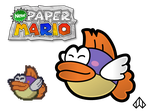 New Paper Mario: Sushie by Nelde