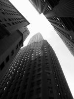 Looking up on Wall St by Mister-Matt