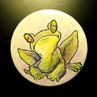 Frog button by feathergills