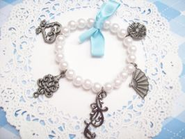 Blue Pearl Charm Bracelet by lessthan3chrissy