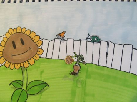 plants vs. zombies by eburne