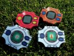 [Digimon] Digivices - Papercraft by Mixowelle