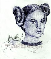 Padme Amidala in Star Wars Episode 3-Ballpoint Pen by AngelinaBenedetti