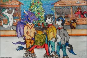 At the Christmas market by BlackDragon07