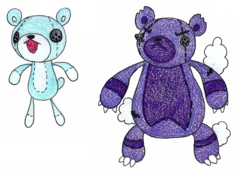 teddy bears ADOPTED by FrozenFeather