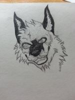 My first try at a head, pretty crazy lookin by LoneWolf40