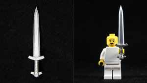 LEGO 3D Printed Painted Iron Sword by mingles