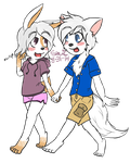 :Comish: Foxiwan and Devin by FreakOfLove