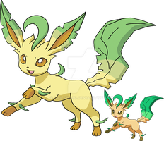 470 - Leafeon - Art v.3 by Tails19950