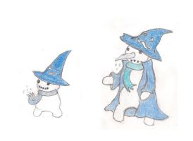 Snowmini and Snowmage by ToxicWyvern