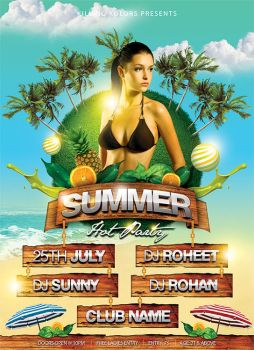 Summer Hot Party Flyer by mantushetty