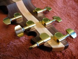 Steampunk Guitar - Headstock by steampunk22