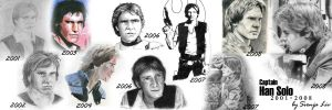 Han Solo over the years by SvenjaLiv