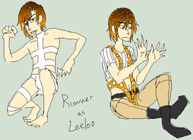 Rimmer as Leeloo - RD by TechnoRaverCall