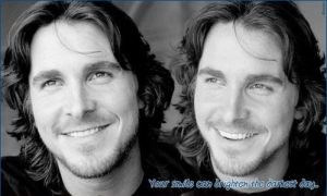 Smiling Christian Bale by dinatzv