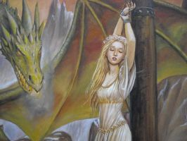 Dragon and captive detail by dashinvaine