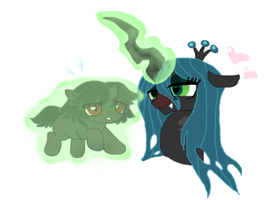 Queen Chrysalis meet  Sombra by Loveponies89