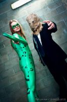 The Riddler And Scarecrow by joker99xdraven