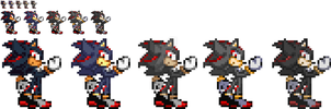 [Sonic] The many Pallet swaps of Shadow by SuperShadiw1010
