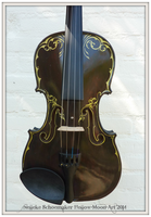 Unicorn violin Front design by Hollow-Moon-Art