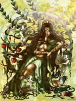 Gaea, Mother Earth by lordaphaius28