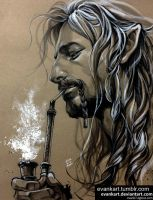 Fili's morning smoking by evankart