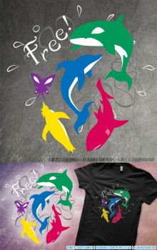 The Animals of Free! Shirt Design by a745
