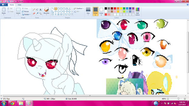 doing a commission by CloudyPonyArtists