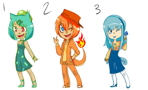 Kanto Starter Adoptables [SOLD] by theHandmaid0