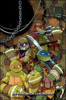 TMNT Animated 9 Cover Art by Red-J