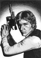 Han Solo /ink portrait by chibi-in-neverland