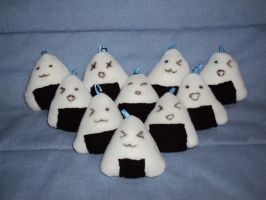 Onigiri keyrings by mysteriousmage