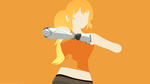 RWBY Cyborg Yang Volume 4 (Minimalist Wallpaper) by ArcheoAlex
