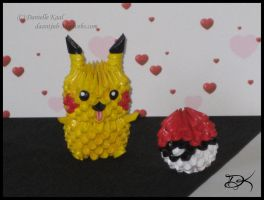 Pikachu And Pokeball by Delinlea