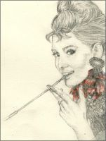 Audrey Hepburn Petal by Will-Hunt2009