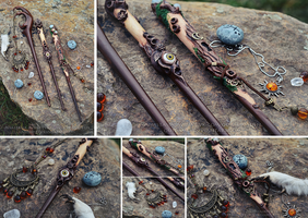 Magic wands for the Witches of the Forest by quidames
