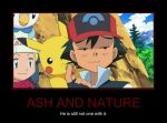 Ash and nature by porgonz