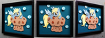 Commission:  Derpy on a Muffin BUILD 2 by The-Paper-Pony