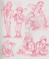 TF2 San Fran Doodles by Nintendo-Nut1