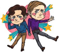 chibi Charles and Erik by po19