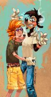 Goofy Movie--Max X Bobby SLASH by mavoorik