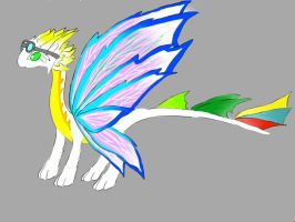 Matured form: Moon Butterfly dragon, Lalna by minecraftmobs456