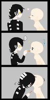 Death The Kid X OC Base: How He Plays Pockey by The-Fanfic-Writer