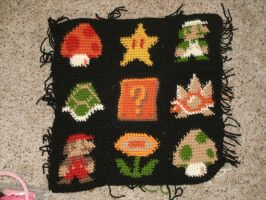 Mario Theme Pillow WIP by whinnteress