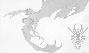The Battle of Smaug Line Art by vtforpedro